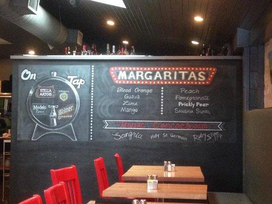 Bejas Patio Bistro : The draft beers and maragarita flavors