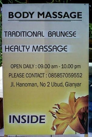Body Massage Ubud