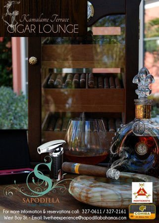 Cigars and Cordials… Before Dinner, or After… An outdoor experience at Sapodilla Restaurant...