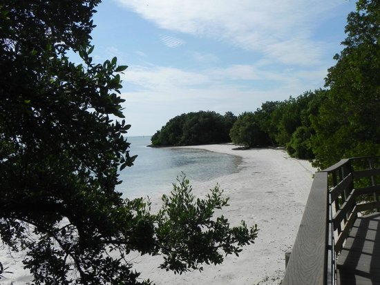 A boardwalk links several open beach spots like this one at Anne's Beach.