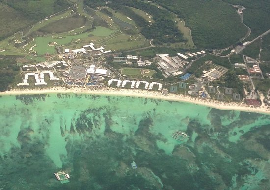 Barcelo Bavaro Palace : Aerial view of resort as we left