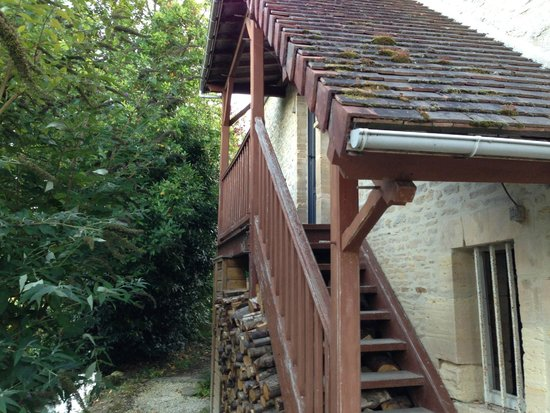 Ver-sur-Mer, Frankrike: Stairs up to Cote Ouest
