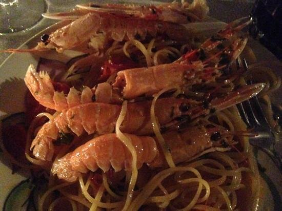 Open Gate: Prawn linguini - Excellent