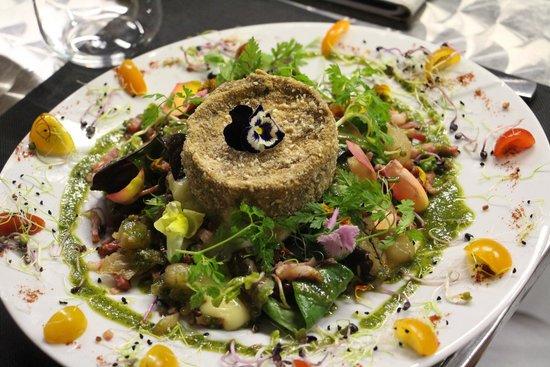 Salade de gone esp ce de camenbert chaud fotograf a de le salon des gourmets salon de - Le salon des gourmets salon de provence ...