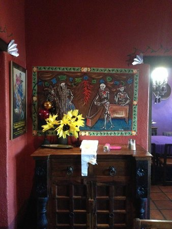 Bar dining area decor Picture of El Charro Cafe The