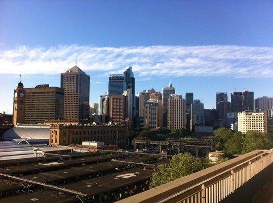 Bounce Sydney: The view from the rooftop where you can bring your own drinks :D