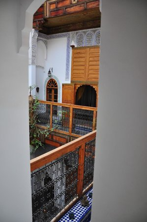 Riad Laayoun: View from the staircase
