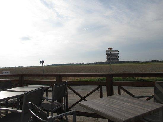 Logis Auberge de la Dune : uitzicht van het terras hotel