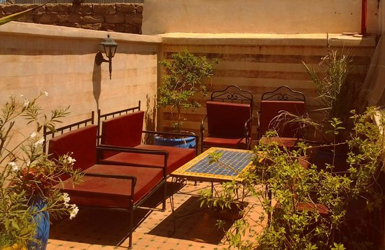Riad Massin: roof terrase