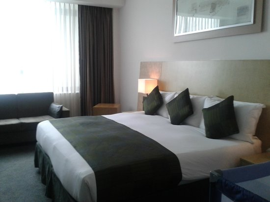 Park Plaza Cardiff: Bed and Window