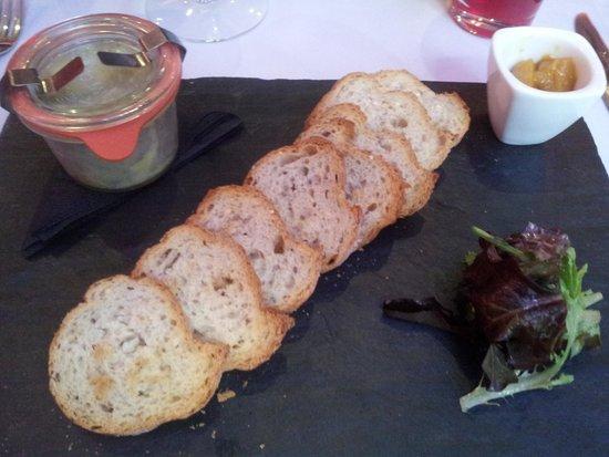 La Table du 9 : Foie gras appertizer