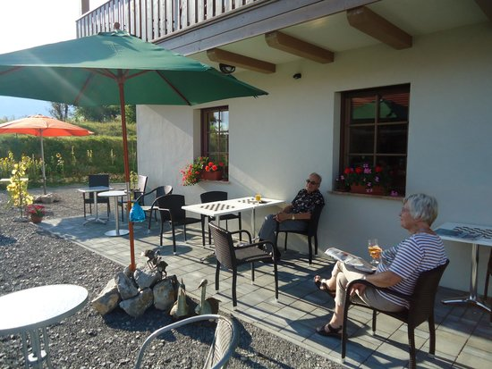 Lipizzaner Lodge Relaxtivity Guest House : At our terrace in September afternoon.