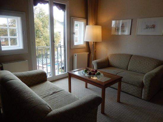 Hotel Bergstrom: Mühlensuite, Wohnbereich