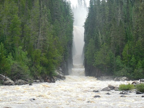 Smooth Rock Falls, Kanada: New Post Falls. View from lunch-spot.