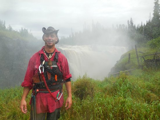 Smooth Rock Falls, Kanada: Andre, our intrepid guide!