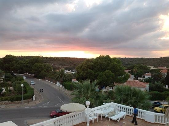 Grupotel Mar de Menorca: view from balcony at sunset