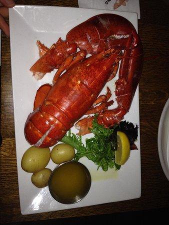 The Mooring : 2 lb lobster! So delicious!!