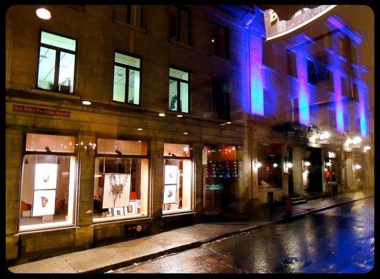 Auberge Bonaparte: View from Restaurant Bonaparte