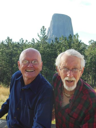 Devils Tower Lodge : Frank (right) and I in the morning before we left
