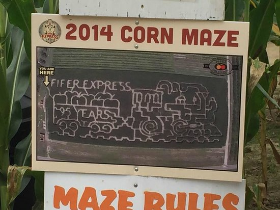 Fifer Orchards - Farm, Country Store and CSA: Don't get lost while in the corn maze!!!
