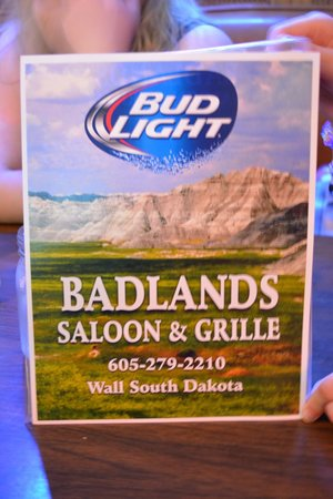 Badlands Saloon and Grille: Menu Cover