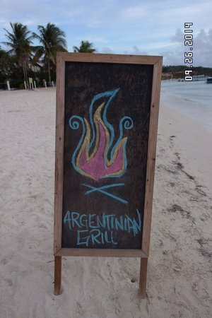 Argentinian Grill: The beach sign