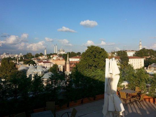 Grand Hotel Gulsoy: la terrazza con vista