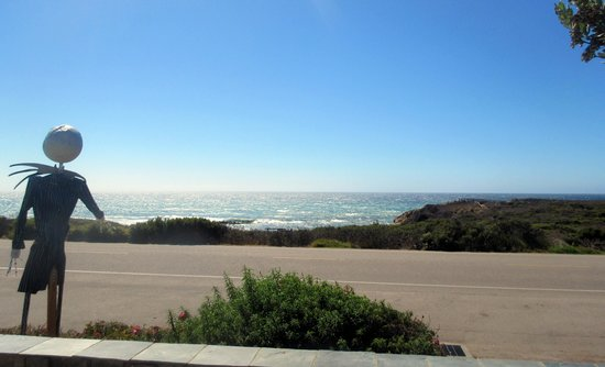 View from Fireside Inn on Moonstone Beach, Cambria, Ca