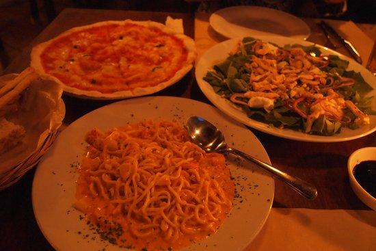 PEPeNERO Cucina Italiana: 頼んだ料理