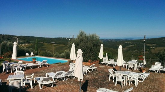 Borgo Sicelle: A view of the pool and beyond