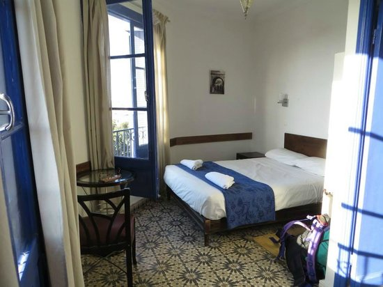 "Hotel Central: Our basic room with two ""juliet balcony"" windows"