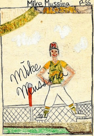 World of Little League: Peter J. McGovern Museum and Official Store: Now on display in the Museum: A hand-drawn baseball card by 11-year-old Mike Mussina.