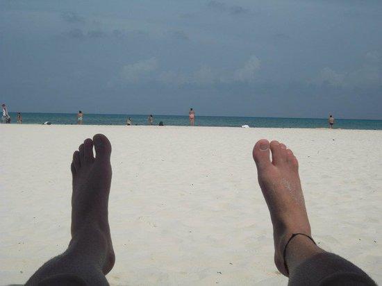 Hostel Quinta Playa: yo en la playa