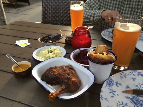 BBQ Kitchen: BarBQ Duck with Slaw and Potatoes