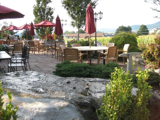 Traditions Restaurant And Bakery Outdoor Patio With View Of Farmlands