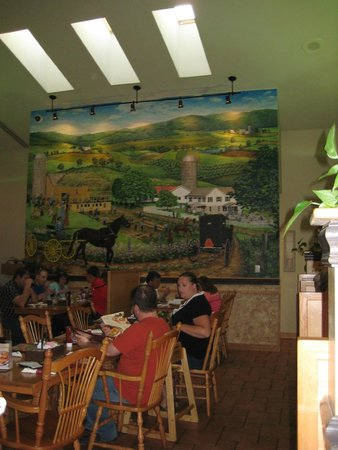Traditions Restaurant And Bakery Dining Room Mural