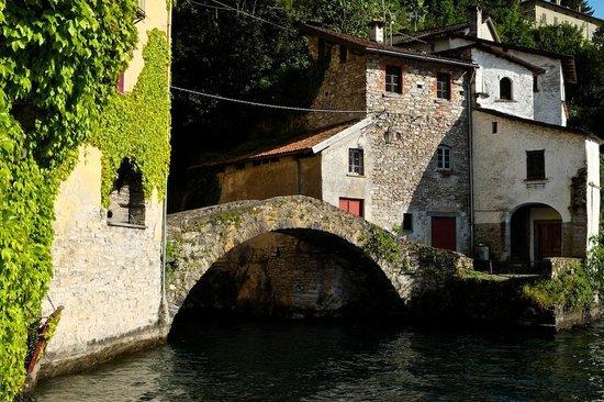 Nesso, Italy: View to the Ponte della Civera