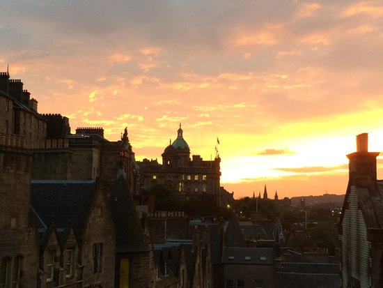 The Scotsman Hotel : Sunset from bedroom window of 706