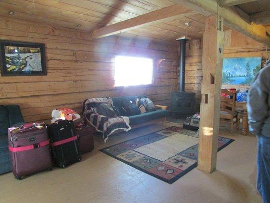 Mount Aurora Lodge: futon downstairs