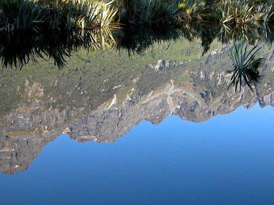 Mirror Lakes Walk : Reflection of the Earl Mountains, Mirror Lakes