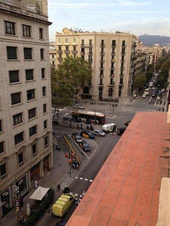 Hotel Roger De Lluria Barcelona: Looking northwest from my room's terrace