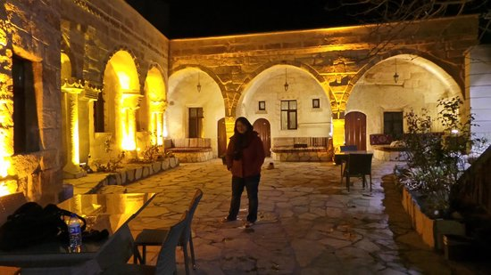 Cappadocia Palace: me at their  hotel grounds