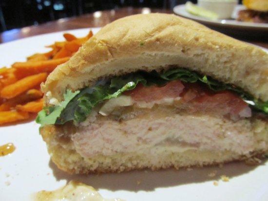 Mahogany Grill: MOIST cornell chicken sandwich