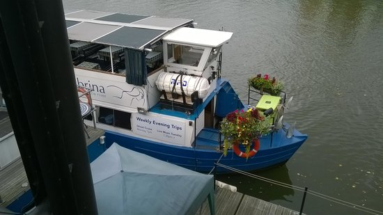 Sabrina Boat Trips: The Sabrina, bedecked with flowers