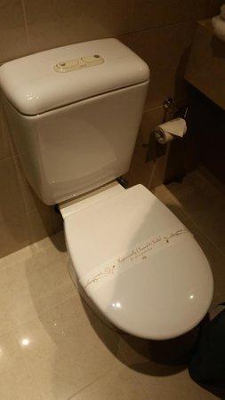 Atlantis Hotel: Clean Toilet