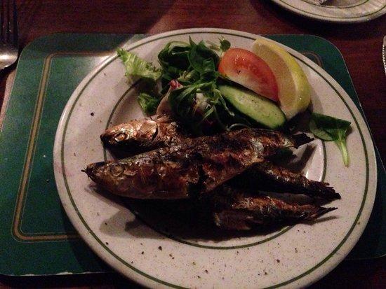 Madeira: Grilled sardines starter. Amazing!
