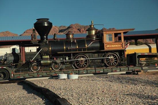 Nevada Southern Railway Excursion: 1875 4-4-0 Narrow Gauge Steam Engine Eureka Santa Christmas Train