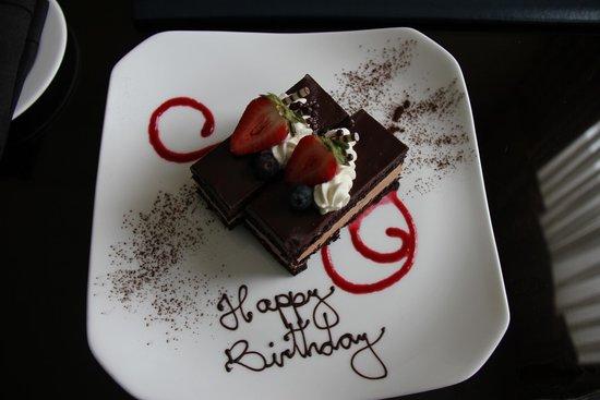 The Ritz Carlton New Orleans Birthday Cake Sent Up By Front Desk Clerk
