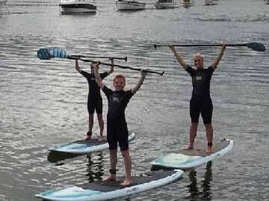 Jervis Bay Stand Up Paddle: Balancing on the stand up paddle