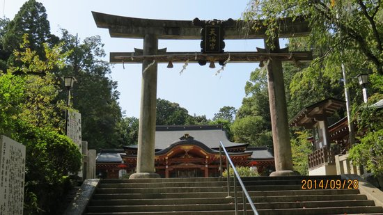 Nagaoka Tenmangu: 社殿と鳥居